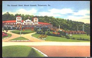 USA Postcard The Summit Hotel Mt Summit Uniontown Pennsylvania