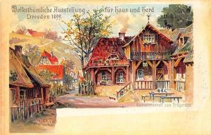 Dresden Germany Fur Haus Herd Signed E. Rieck 1899 Pioneer Postal Card