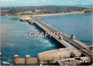 Postcard Modern Dam La Rance L and V Aerial view The Rance Tidal Power Station