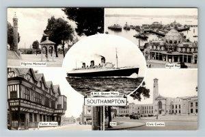 RPPC of Southampton United Kingdom, Tudor House, Royal Pier, Memorial Postcard