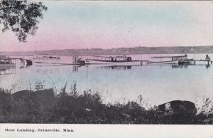 ORTONVILLE, Minnesota, PU-1915; Boat Landing