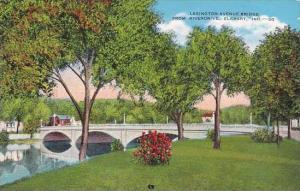 Indiana Elkhart Lexington Avenue Bridge From Riverdrive