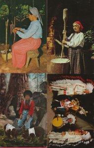 Lot of 4 American Indian Pictrure Postcards - HL-03