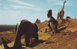 The Three Giants, Dinosaur Park, Rapid City,South Dakota,40-60s