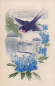 Birthday Bluebonnets with Purple Swallow Embossed