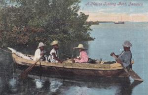 JAMAICA, 1900-1910´s; A Native Fishing Boat