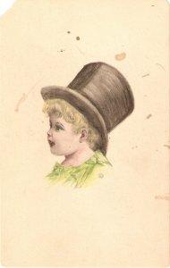 A little gentleman Old vintage English postcard