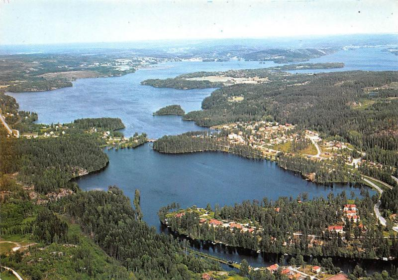 Sweden Flygfoto over Laxsjon i Dalsland General view