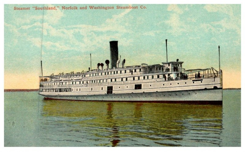 Steamer  Southland , Norfolk and Washington Steamboat Co.