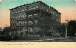 St Cloud Minnesota~St Raphael's Hospital~1910 Postcard