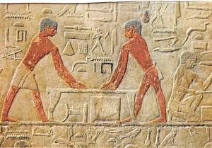 Egypt Sakkara - Ti-Mastaba - Joiners at work 5th Dyn. 2560 B.C.
