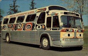 Alaska Sightseeing Bus Fairbanks c1960s Postcard