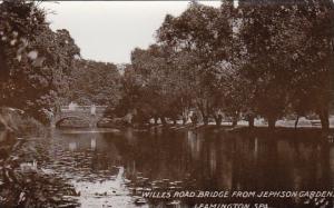 England Leamington Willes Road Bridge From Jephson Gardens Real Photo