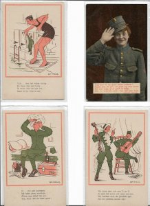Military Vintage Postcard Lot of 8 Artist Signed  01.15