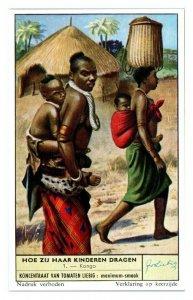Congo Kongo, How Children are Carried Liebig Belgian Trade Card *VT28B