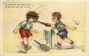 Tennis, Old Vintage Antique, Post Card Postcard