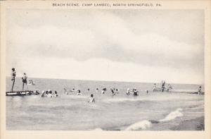 Beach Scene Camp Lambec North Springfield Pennsylvania Artvue