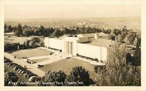 RPPC of the Art Museum Volunteer Park Seattle Washington WA