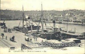Bassin du Commerce Cherbourg, France, Carte, Writing on back
