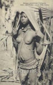Senegal - Jeune Fille Cerere African Nude Nudes Postcard Post Card  Senegal -...
