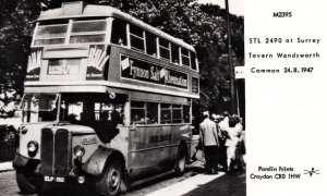 Rheumatism Fynnon Salt Natural Remedy Advertising Surrey Bus Postcard