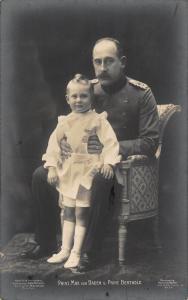 Royalty Germany Prinz Max von Baden u Prinz Berthold Postcard