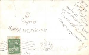 Iowa Ia Real Photo RPPC Postcard c1940s ATLANTIC Presbyterian Church Building