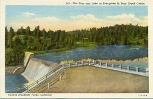 CO - Bear Creek Canyon. The Dam and Lake at Evergreen