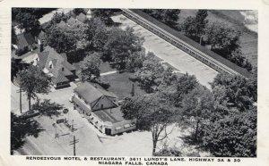 RP; NIAGARA FALLS , Ontario, 1955; Rendevous Motel & Restaurant, Highway 3A & 20