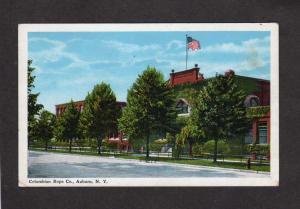 NY Columbia Rope Co Company Auburn New York Postcard Columbian Mills