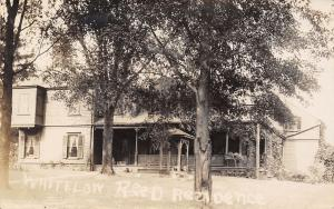 Sallisaw OK Whitelow Reed Home~Nice Extended Window RPPC 1913 From Nellie/Frank