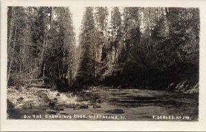 The Chemainus River Westholme BC Vancouver Island T Series 179 RPPC Postcard E72