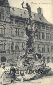 La Fontaine Brabo Anvers, Belgium Unused