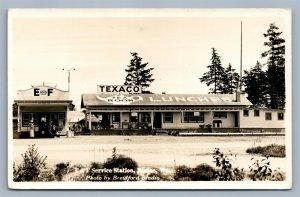 BLAINE WA TEXACO GAS STATION E & F SERVICE ANTIQUE REAL PHOTO POSTCARD RPPC