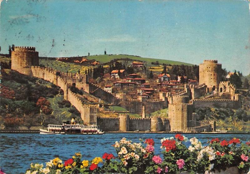 Turkey Istanbul View of the Bosphorus and Rumeii Ship Fortress
