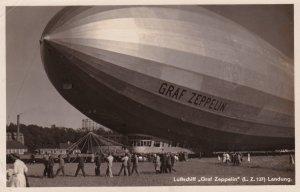 RP Air ship / Blimp Luftschiff GRAF ZEPPELIN (L.Z.127) Landung, Germany, 1920s