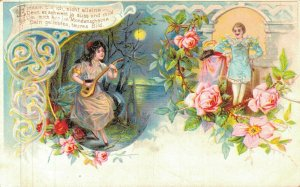 Vintage Romantic Couples with Flowers and more Postcard Lot of 10 01.13