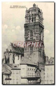 Postcard Old Rodez Bell tower of the Cathedral