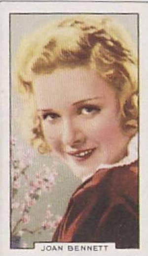 Gallaher Cigarette Card Portraits Of Famous Stars No 33 Joan Bennett