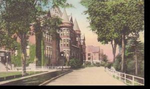 New York Utica Masonic Home Handcolored Albertype