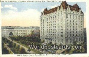 Two Million Dollar Hotel, & Union Station Winnipeg Canada Unused