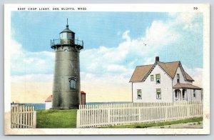 Oak Bluffs MA~East Chop Light House~Keeper's Cottage~Picket Fence~1920s