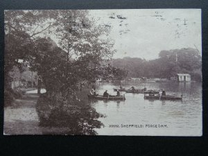Yorkshire SHEFFIELD Forge Dam showing ROWING BOATS c1918 Postcard by Photochrom
