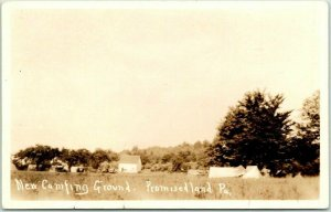 Promised Land State Park, Pennsylvania RPPC Photo Postcard New Camping Ground