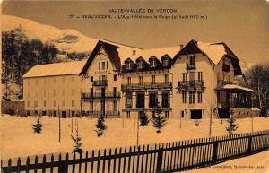 Switzerland Old Vintage Antique Post Card Haute Vallee du Verdon Beauvezer Un...