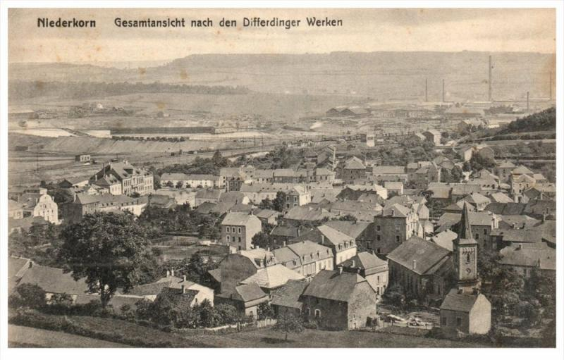 18072  Aerial View  Luxembourg Niederkorn