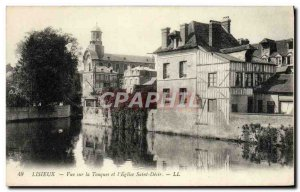 Old Postcard View of Lisieux touques and & # 39eglise holy desire