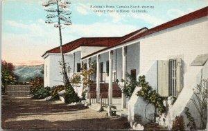 Ramona's Home Camulos Ranch CA Century Plant in Bloom UNUSED Postcard F34
