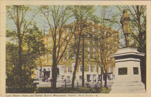 Lord Nelson Hotel And Robert Burn's Monument, HALIFAX, Nova Scotia, Canada, P...