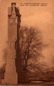 Indiana Princeton St Joseph's Cemetery Shrine Side View